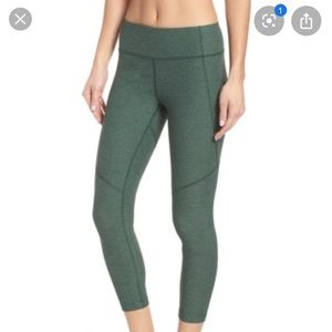 Outdoor Voices Crop Leggings Green Small NWOT